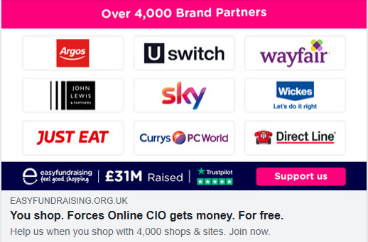 Forces Online CIO Easy Fundraising Page